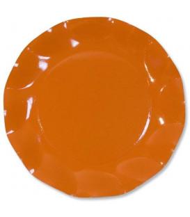 Piatti Piani di Carta a Petalo Arancione 24 cm