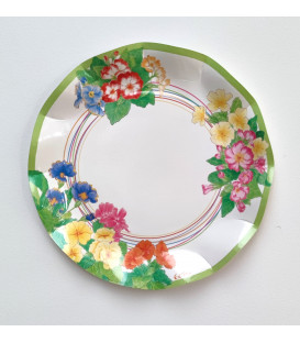 Piatti Piani di Carta Compostabili Primule 21 cm