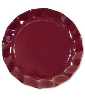 Piatti Piani di Carta a Petalo Bordeaux 32,4 cm