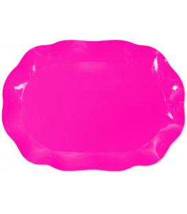 Vassoio Rettangolare Rosa Pink 46x31 cm 1 Pz