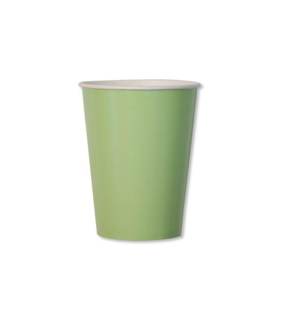 Bicchieri di Carta Verde Perlato 250 cc