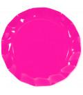 Piatti Piani di Carta a Petalo Rosa Pink 32,4 cm