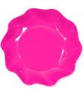 Piatti Fondi di Carta a Petalo Rosa Pink 18,5 m