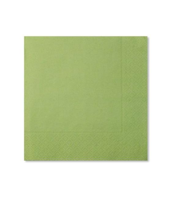 Tovaglioli Verde chiaro 33 x 33 cm 3 confezioni