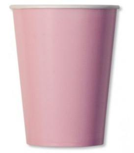 Bicchieri di Carta Rosa Pastello 250 cc