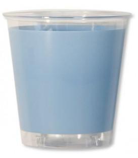 Bicchieri di Plastica Celeste Perlato 300 cc