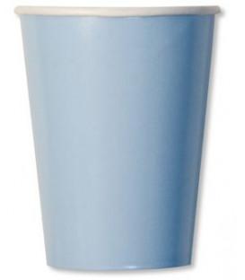 Bicchieri di Carta Celeste Pastello 250 cc