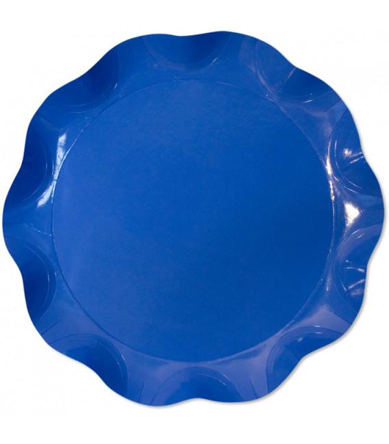 Vassoio Tondo 30 cm Blu Cobalto 1 Pz