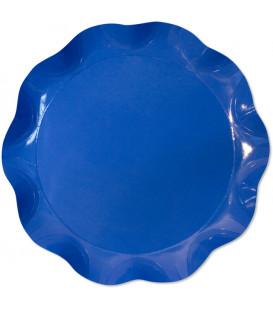 Vassoio Tondo 40 cm Blu Cobalto 1 Pz