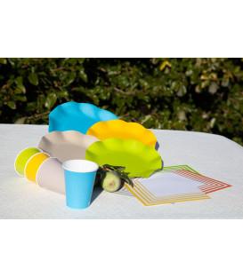 Tovaglioli Compostabili Bianco Verde Lime 33 x 33 cm 3 confezioni
