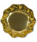 Piatti Fondi di Carta a Petalo Oro Metallizzato