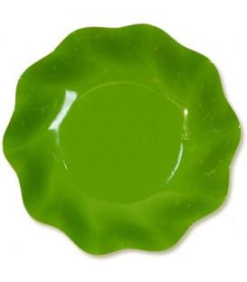 Piatti Fondi di Carta a Petalo Verde Prato 18,5cm