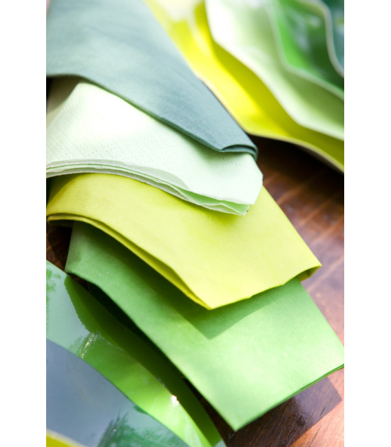 Tovaglioli Verde Prato 25 x 25 cm 3 confezioni