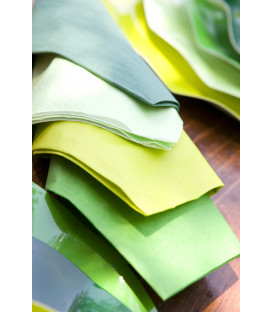 Tovaglioli 3 Veli Verde Prato 3 confezioni 25x25 cm