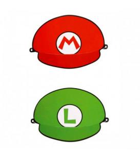 Cappello cartoncino Supermario 8 pz