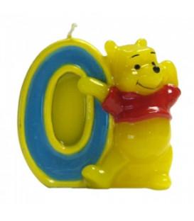 Candelina Numero 0 Winnie Pooh 6 cm 1 Pz