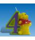 Candelina Numero 4 Winnie Pooh 6 cm 1 Pz
