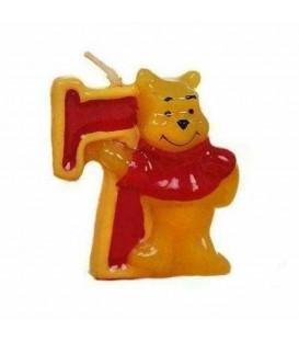 Candelina Numero 7 Winnie Pooh 6 cm 1 Pz