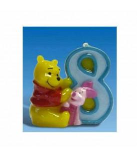 Candelina Numero 8 Winnie Pooh 6 cm 1 Pz