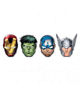 Maschere Avengers Mighty 6 pz