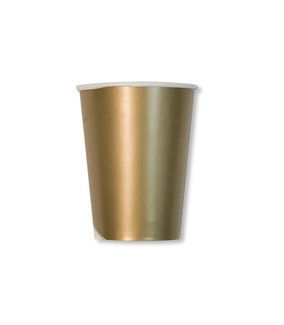 Bicchieri di Carta Oro Metallizzato 250 cc
