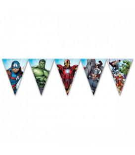 Festone bandierine triangolari Avengers Mighty 230 cm 1 pz
