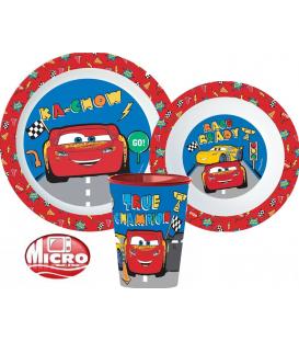 Servizio da tavola Cars plastica per microonde 3 Pz