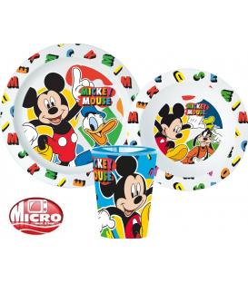 Servizio da tavola Mickey plastica per microonde 3 Pz