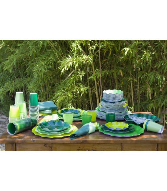 Bicchieri di Plastica Verde Scuro 300 cc