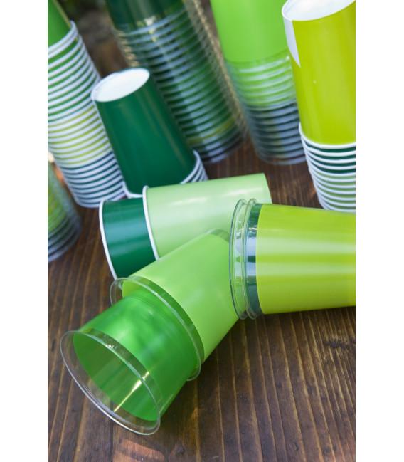 Bicchieri di Carta Verde Scuro 250 cc
