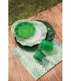Piatti Piani di Carta a Petalo Verde Scuro 32,4 cm