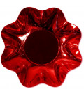 Zuppiera Grande di Carta a Petalo Rosso Metallizzato