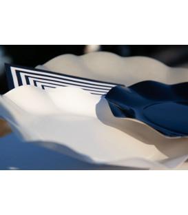 Piatti Piani di Carta Compostabile a Petalo Tortora 21 cm