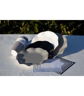 Tovaglioli Compostabili Bianco Grigio 33 x 33 cm 3 confezioni