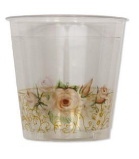 Bicchieri di Plastica Rose Flower 300 cc