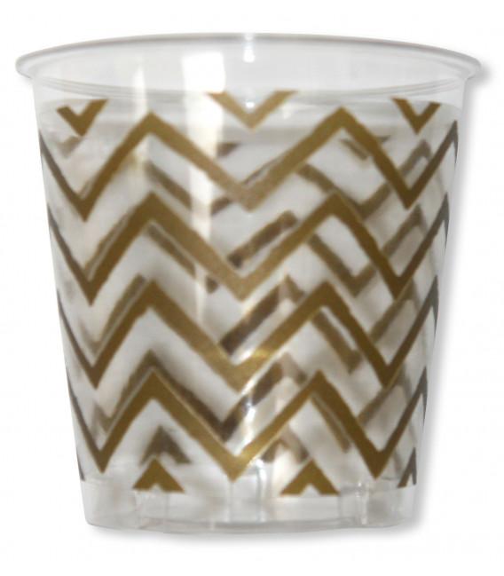Bicchieri di Plastica Zig Zag Oro 300 cc