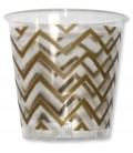 Bicchieri di Plastica Chevron Oro 300 cc