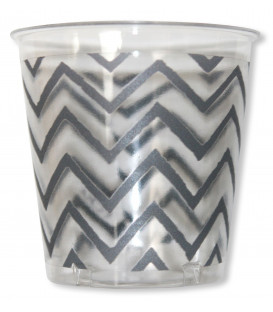 Bicchieri di Plastica Zig Zag Argento 300 cc