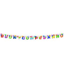 Festone con Lettere Sagomate Buon Compleanno