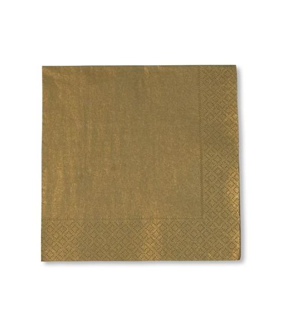 Tovaglioli 3 Veli Metallizzato Oro