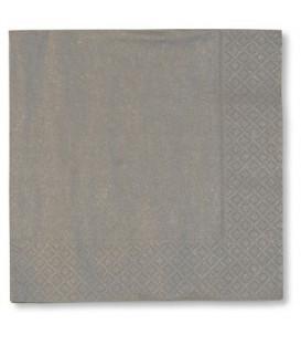 Tovaglioli Argento 33 x 33 cm 3 confezioni