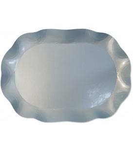 Vassoio Rettangolare Celeste perlato 46 x 31 cm 1 Pz