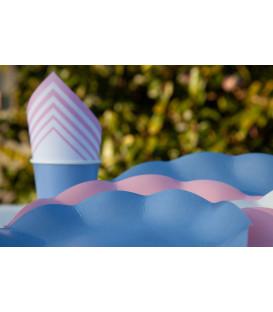 Piatti Piani di Carta Compostabile a Petalo Carta da zucchero 21 cm