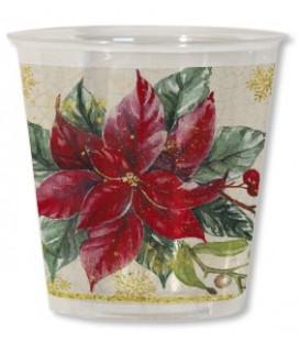 Bicchieri di Plastica Natale Romantico 300 cc