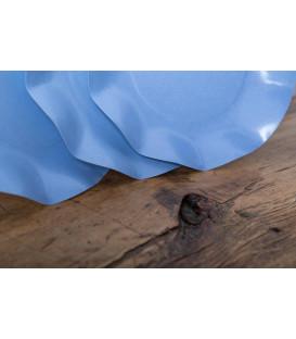 Piatti Piani di Carta Compostabile a Petalo Carta da zucchero 27 cm