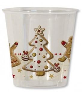 Bicchieri di Plastica Gingerbread 300 cc