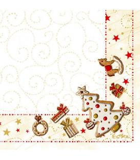 Tovaglioli 3 Veli Gingerbread 33x33 cm 3 confezioni