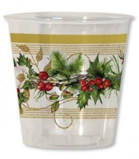 Bicchieri di Plastica Ghirlanda di Natale 300 cc