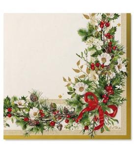 Tovaglioli Ghirlanda di Natale 33 x 33 cm 3 confezioni