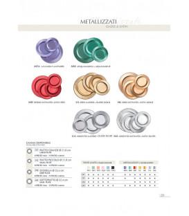 Piatti Piani di Carta a Righe Argento Metallizzato Satinato 32,4 cm